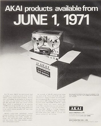 1971 Akai ad announcing that they would now be able to