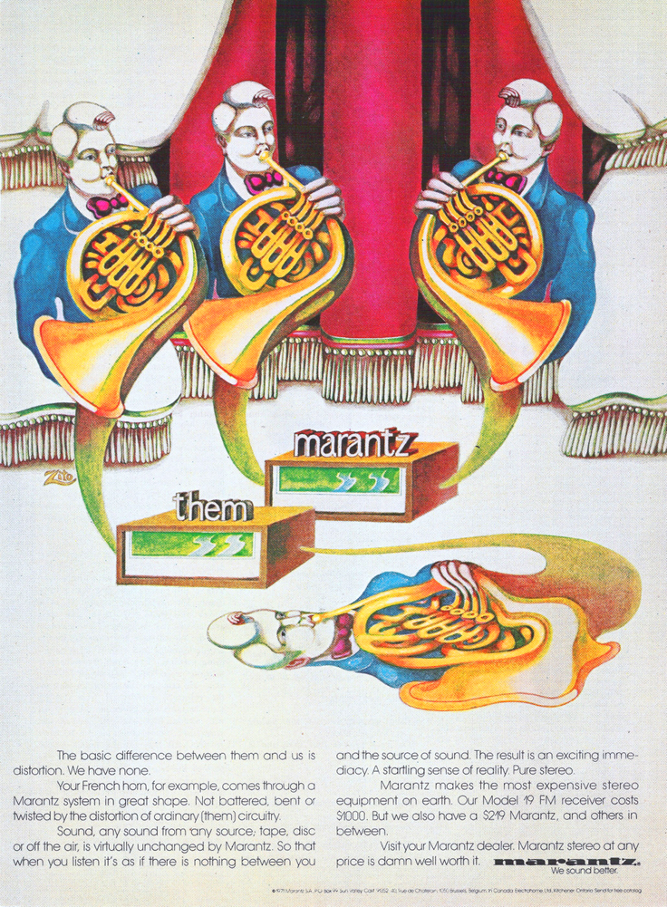 1971 ad for Marantz in the Reel2ReelTexas.com vintage recording collection