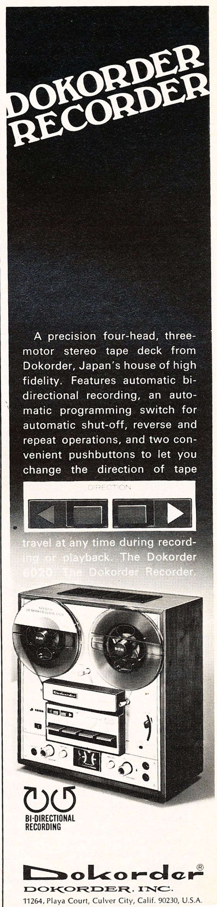 1976 ad for the Dokorder 7100 reel to reel tape recorder in the Reel2ReelTexas vintage recording collection