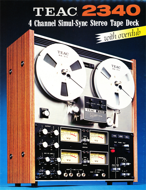 1972 brochure covering the Teac 2340 reel to reel tape recorder in the Reel2ReelTexas.com vintage recording collection