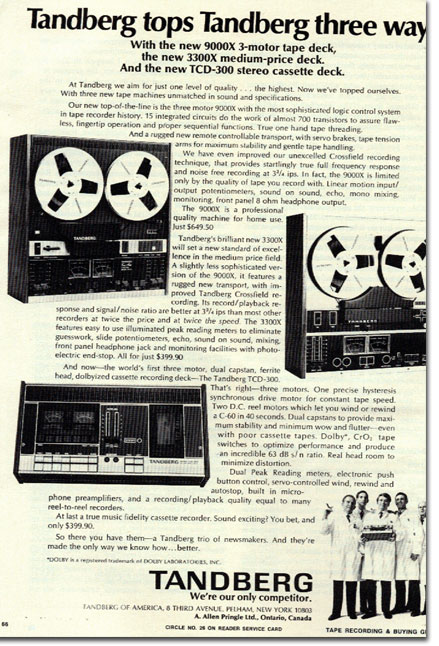 Tandberg ad in the Reel2ReelTexas.com vintage recording collection