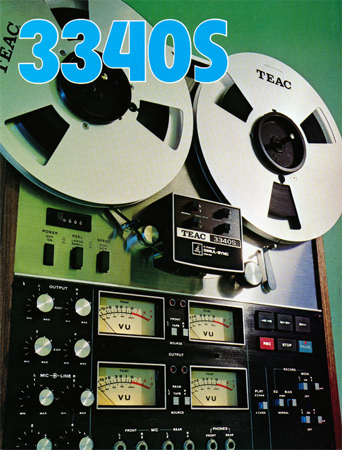 1972 ad for the Teac A-3340 4 track simul-Sync reel to reel tape recorder in the Reel2ReelTexas.com vintage recording collection