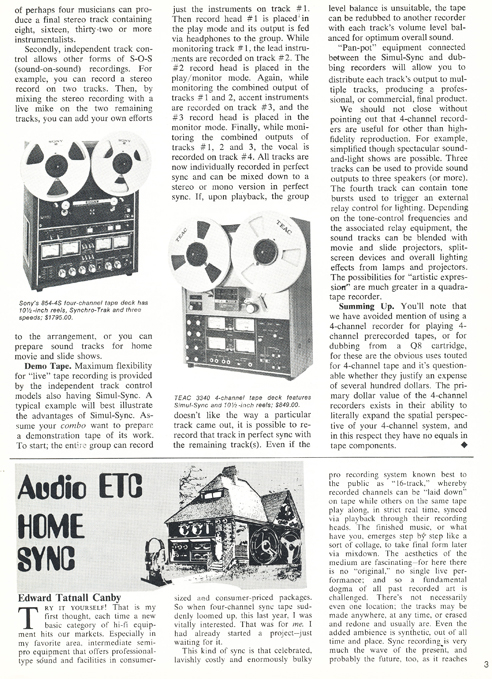 1973 ad for the Teac A-3340 reel tape recorder in the Reel2ReelTexas.com vintage recording collection