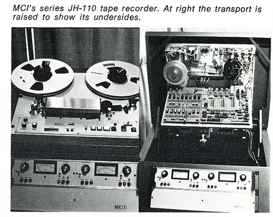 1974 information about the MCI professional reel to reel tape recorders in the Reel2ReelTexas.com vintage reel tape recorder recording collection