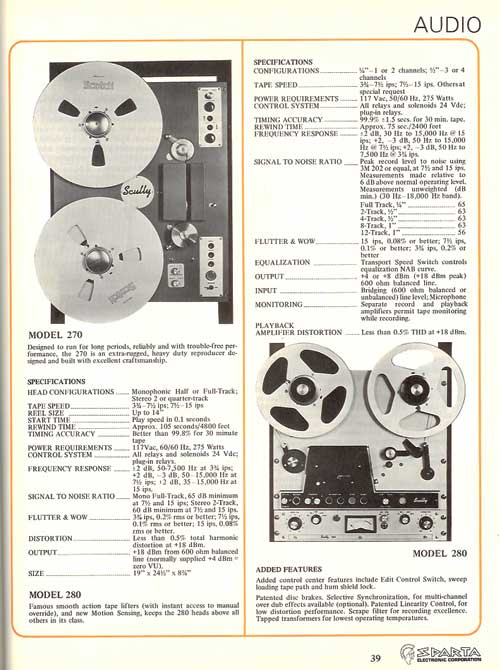 Scully ad in the Reel2ReelTexas.com vintage recording collection