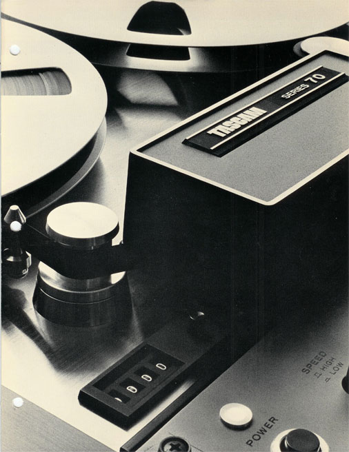 Teac's Series 70 reel to reel recorder brochure in the Reel2ReelTexas.com vintage recording collection