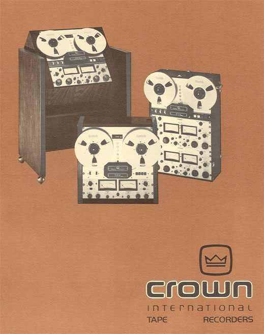 1975 Crown reel to reel tape recorder brochure in the Reel2ReelTexas.com vintage recording collection