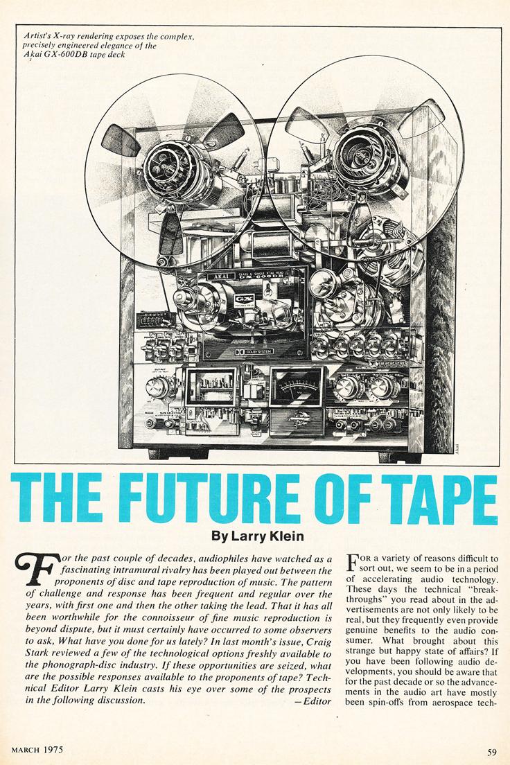 1975 article on the Future of  reel to reel tape recorders in the Reel2ReelTexas.com vintage recording collection