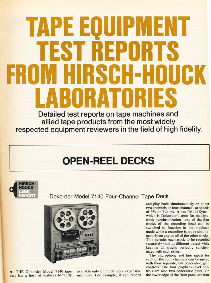 1976 review of the Dokorder 7100 reel to reel tape recorder in the Reel2ReelTexas vintage recording collection