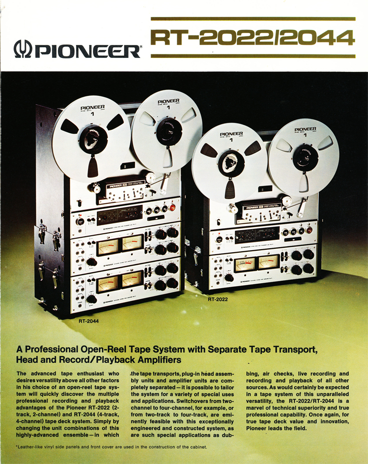 1976 Pioneer RT2044 reel tape recorder in the Reel2ReelTexas.com vintage recording collection