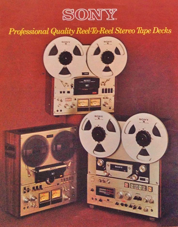 1976 ad for the Sony TC-556 and other Sony reel to reel tape recorders in the Reel2ReelTexas.com's vintage recording collection