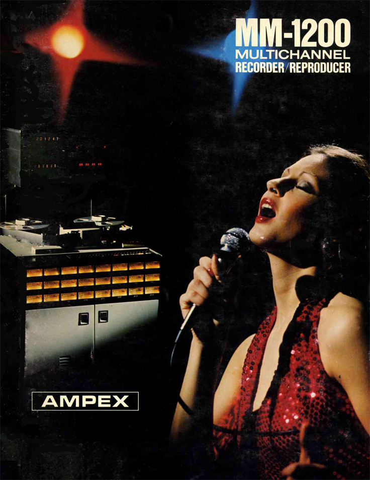 1977 ad for the Ampex MM-1200 professional  reel to reel tape recorder in the Reel2ReelTexas.com vintage recording collection