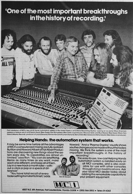 1977 ad for MCI reel to reel tape recorders in the Reel2ReelTexas.com vintage recording collection