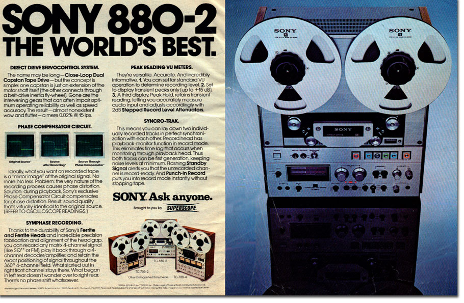 picture of Sony ad from 1977