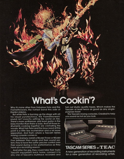 1977 Teac Home Cookin' ad in Phantom's vintage reel to reel collection