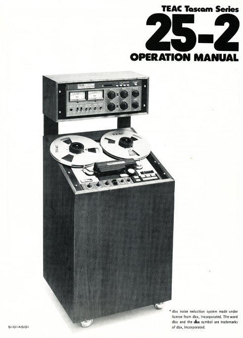 1977 operating manual page for the Teac Tascam Series 25-2 in the Reel2ReelTexas.com vintage recording collection vintage reel tape recording collection