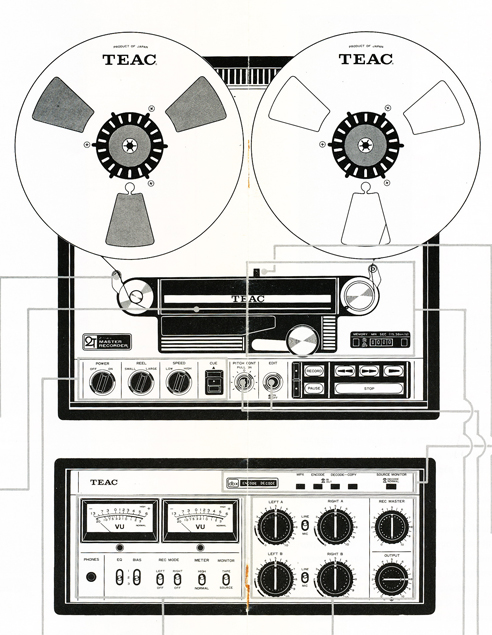 Teac 25-2 two Track mastering reel to reel tape recorder in the Reel2ReelTexas vintage reconding collection