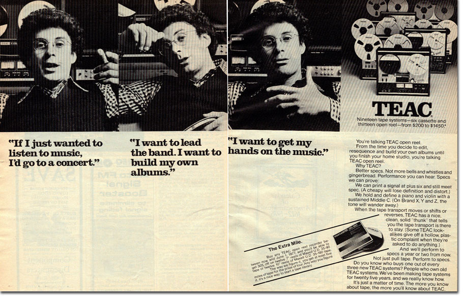 Teac ad from 1977