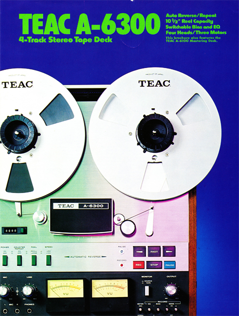 Ad for the Teac A-6300 reel tape recorder in the Reel2ReelTexas.com vintage recording collection reel tape recorder collection