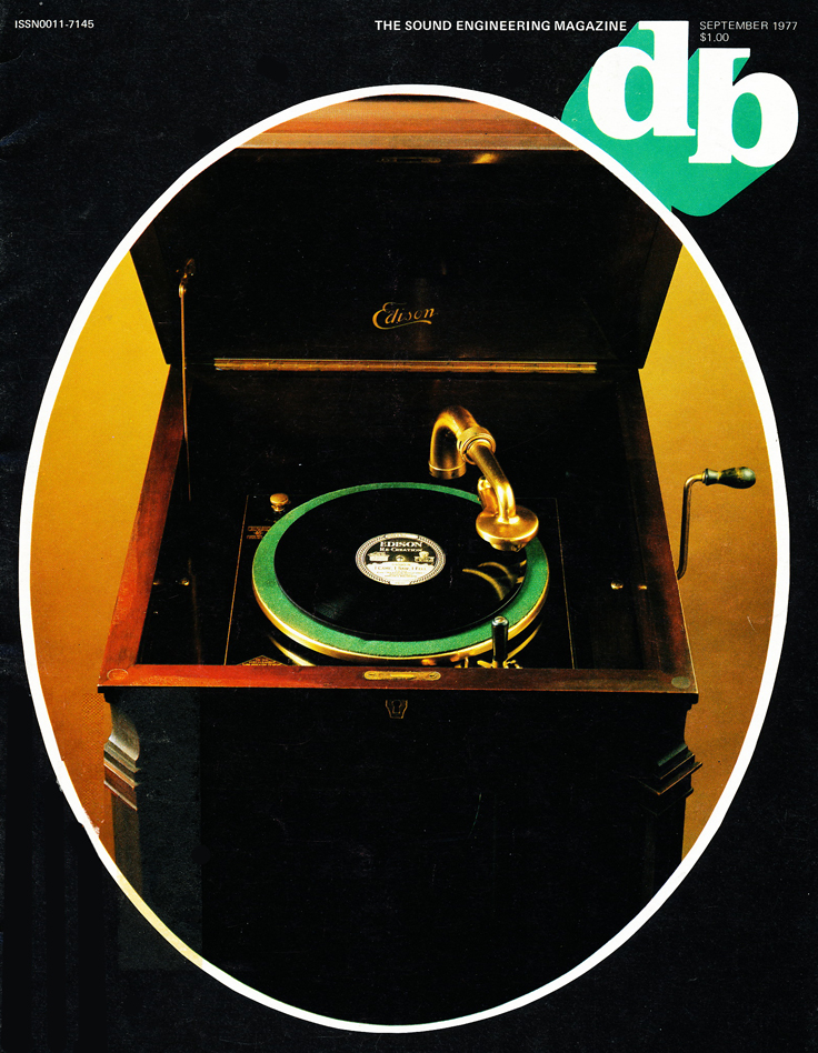 1977 cover of the db magazine featuring early audio technology  in the Reel2ReelTexas.com vintage reel tape recorder recording collection