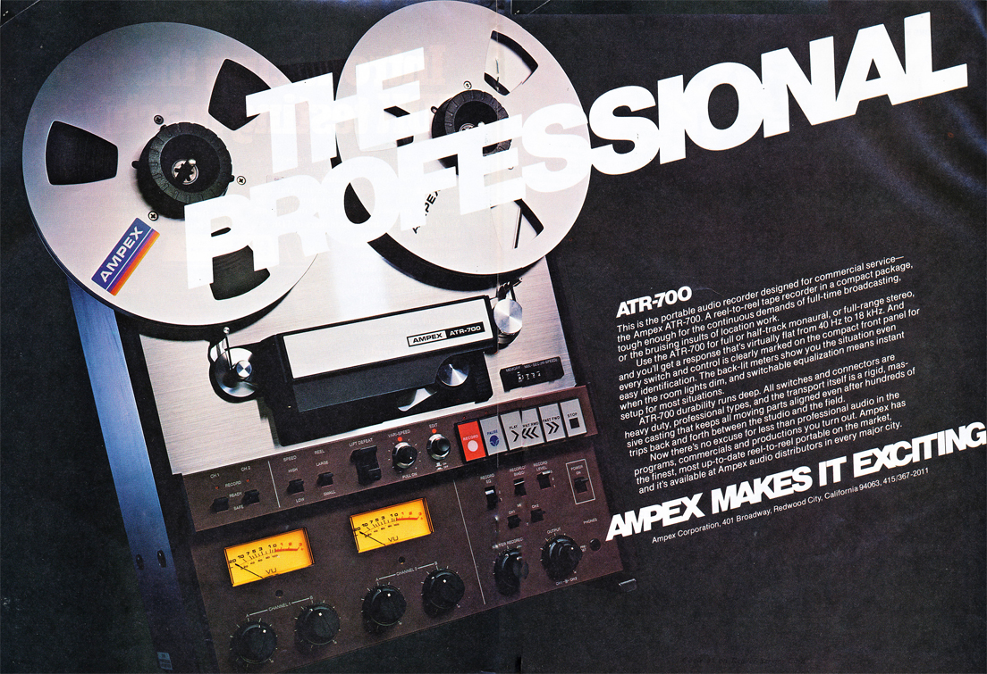 AmpexATR-700 (built by Teac)  two Track mastering reel to reel tape recorder in the Reel2ReelTexas vintage reconding collection