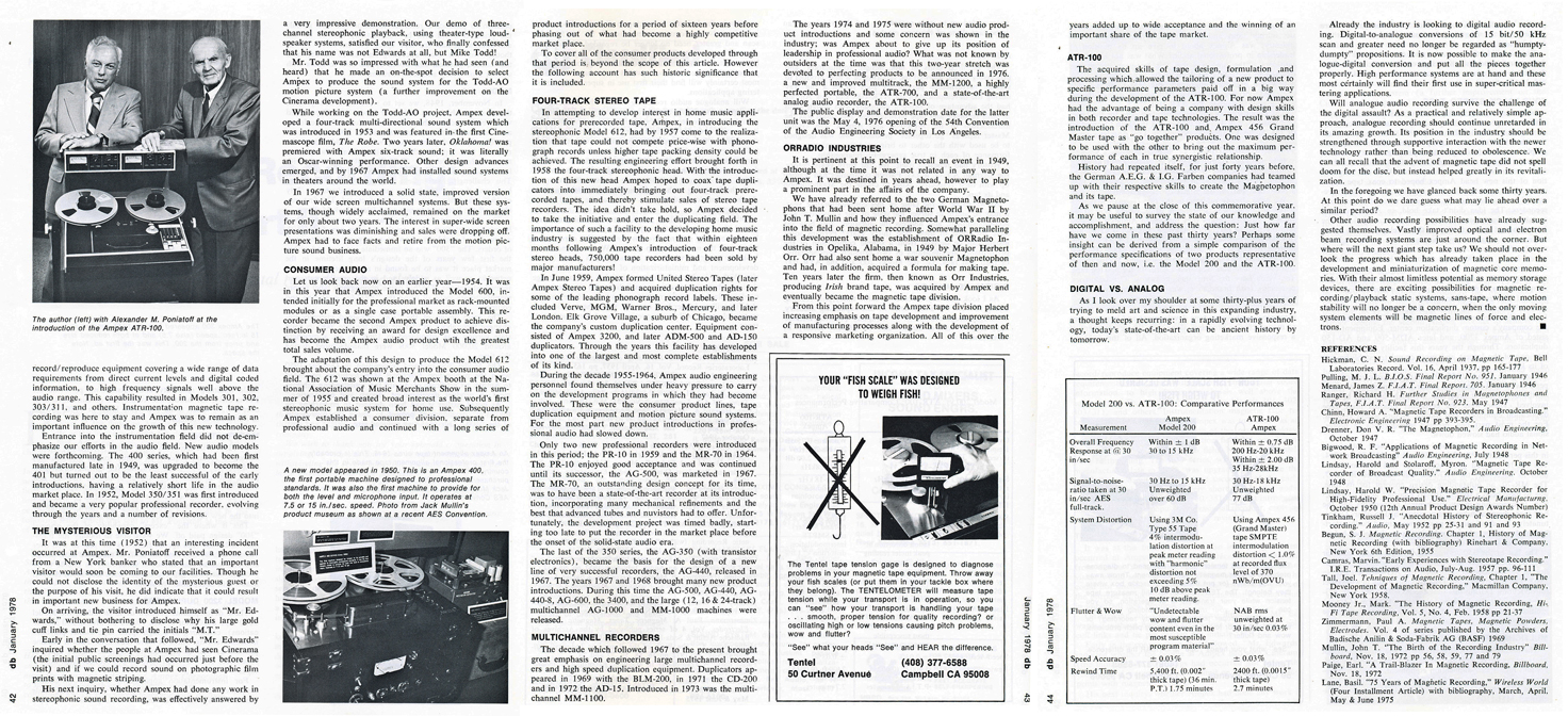 1978 db magazine article written by Harold Lindsey about Magnetic Recording  in the Reel2ReelTexas.com vintage reel tape recorder recording collection