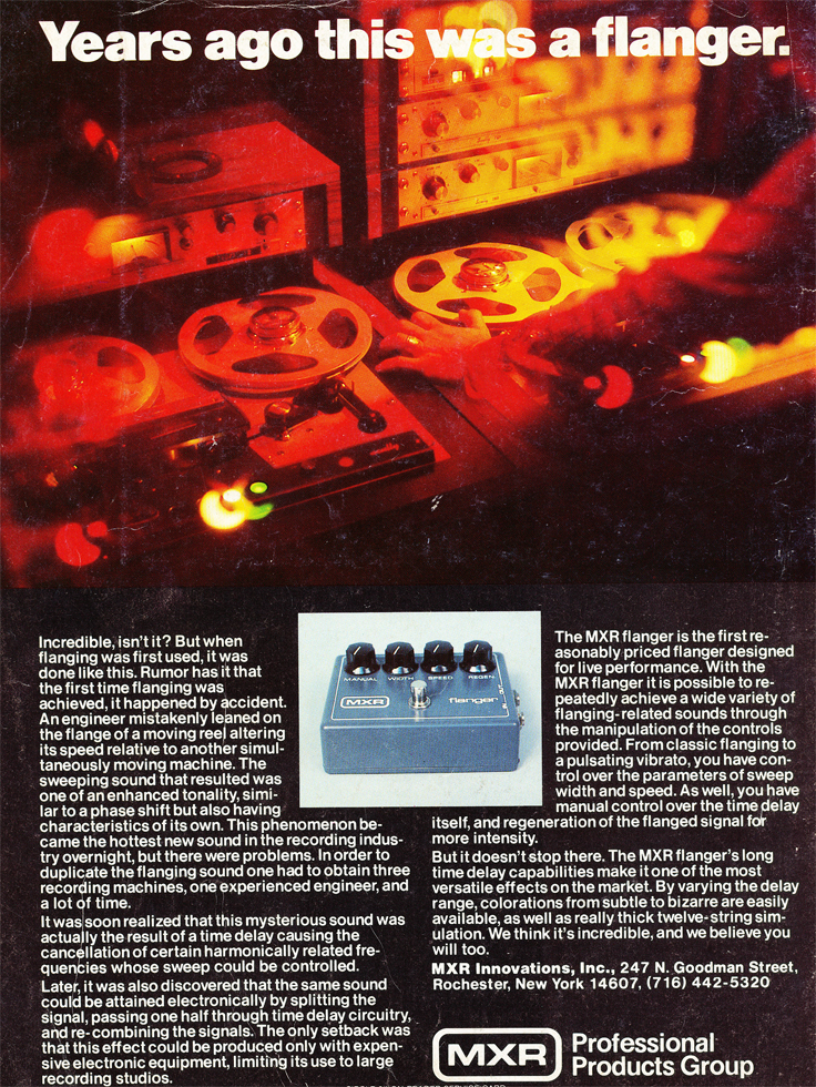 1979 MXR ad in the Reel2ReelTexas.com vintage recording collection