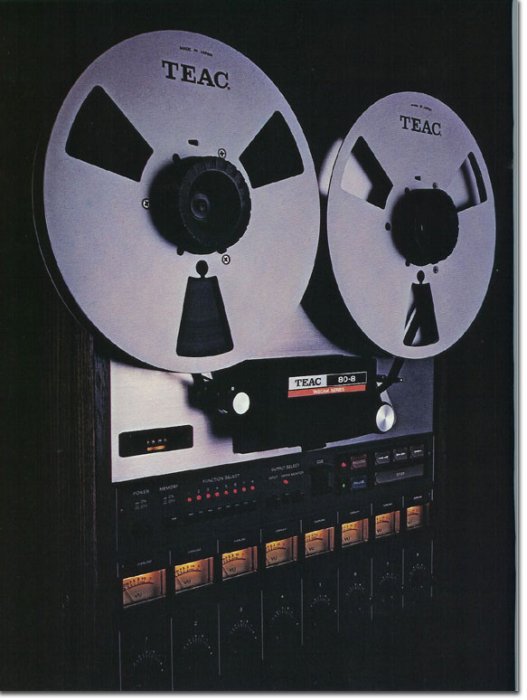 pictures of the Teac 80-8 from the 1979 Teac Tascam brochure in the Reel2ReelTexas.com vintage recording collection
