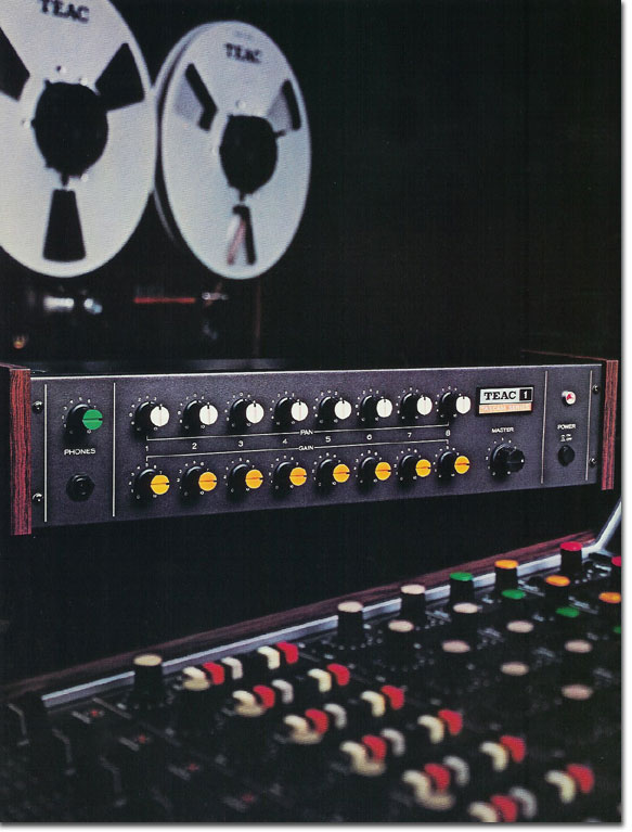 pictures of the Teac Model 1 from the 1979 Teac Tascam brochure in the Reel2ReelTexas.com vintage recording collection