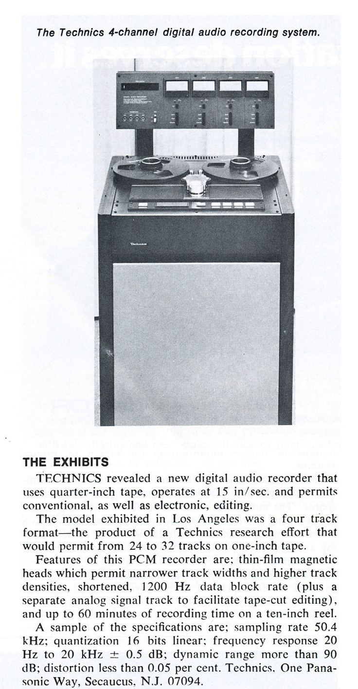 Technics digital multi-track reel tape recorder in the Reel2ReelTexas.com vintage recording collection