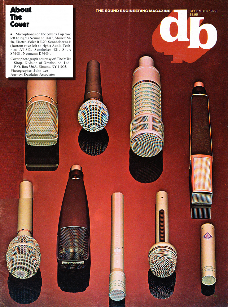 December 1979 cover of the db magazine featuring micriophones in the Reel2ReelTexas.com vintage recording collection