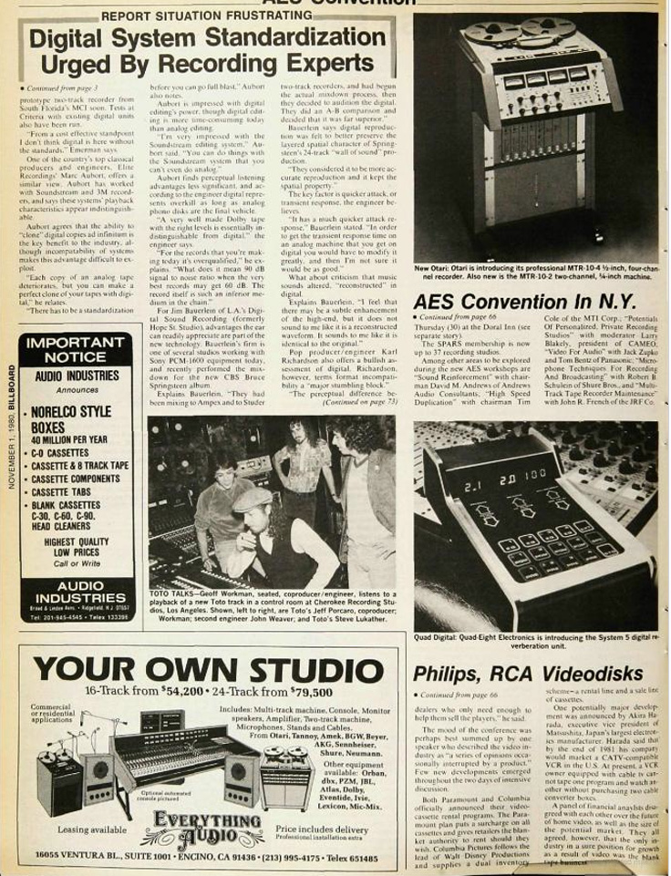 1980 writeup for the MCI professional reel to reel tape recorders in the Reel2ReelTexas.com vintage recording collection