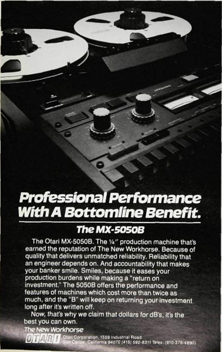 Otari MX5050 BQII 4 channel professional reel to reel tape recorder in the Reel2ReelTexas.com vintage recording collection