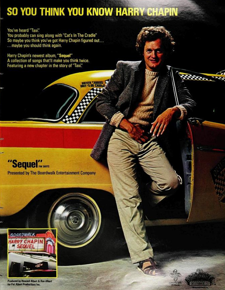 1980 ad for Harry Chapin's Sequal to Taxi song in the Reel2ReelTexas.com vintage recording collection