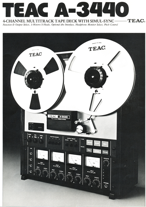1980 Teac A-3440 reel tape recorder brochure in the Reel2ReelTexas.com vintage recording collection' vintage reel tape recorder collection