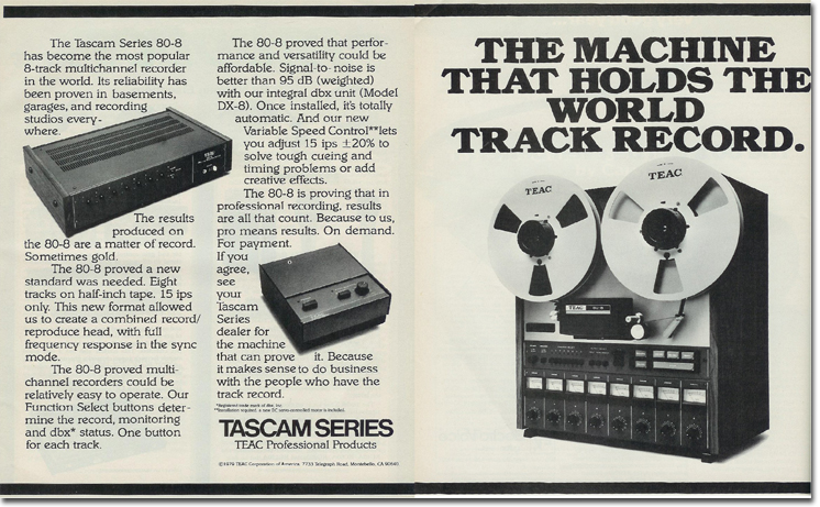 Teac Tascam 80-8 8 track professional reel to reel tape recorder in the Reel2ReelTexas vintage recording collection