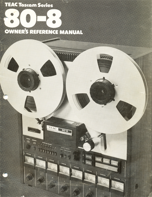 1980 Teac Tascam Model 80-8 8 track reel tape rcorder manual in the Reel2ReelTexas.com vintage recording collection' vintage reel tape recorder collection