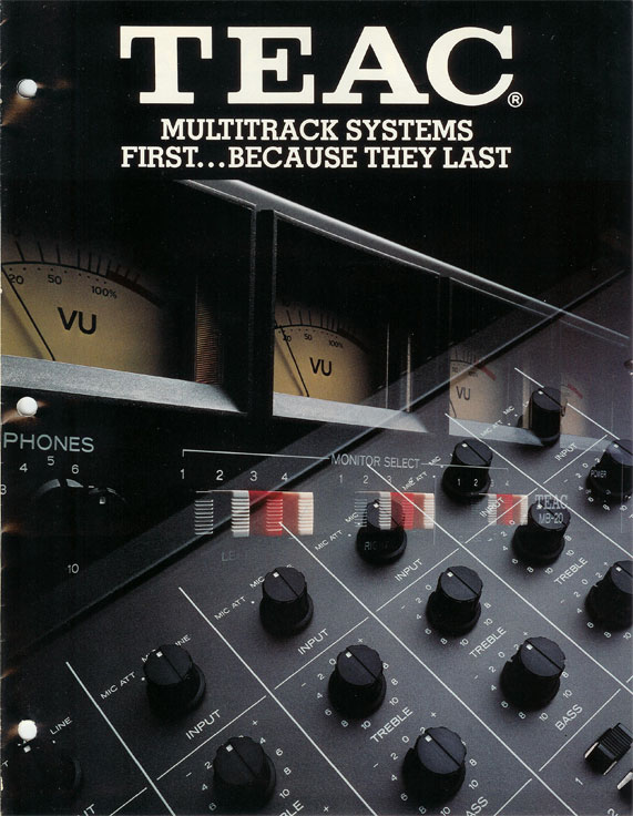 1980 Treac Multi-track ad  in the Reel2ReelTexas.com vintage recording collection