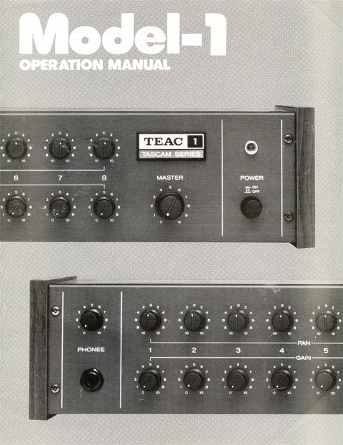 Teac Model 1 mixer ad in the Reel2ReelTexas.com vintage recording collection