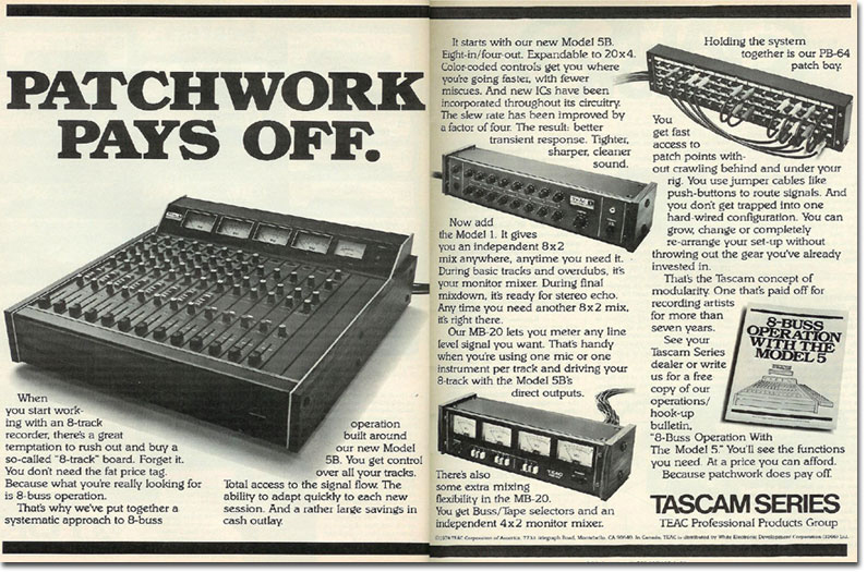 ad for Teac Model 5A, 5B & Model 1 + MB 20 meter bridge