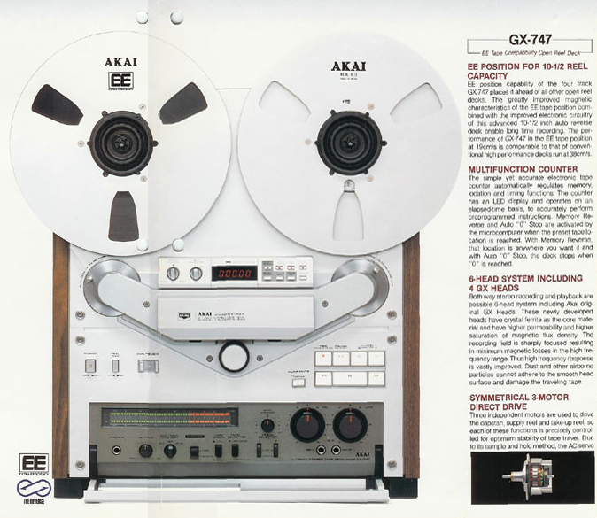 1981 ad for the Akai GX-747 reel to reel tape recorder in the Reel2ReelTexas.com vintage recording collection