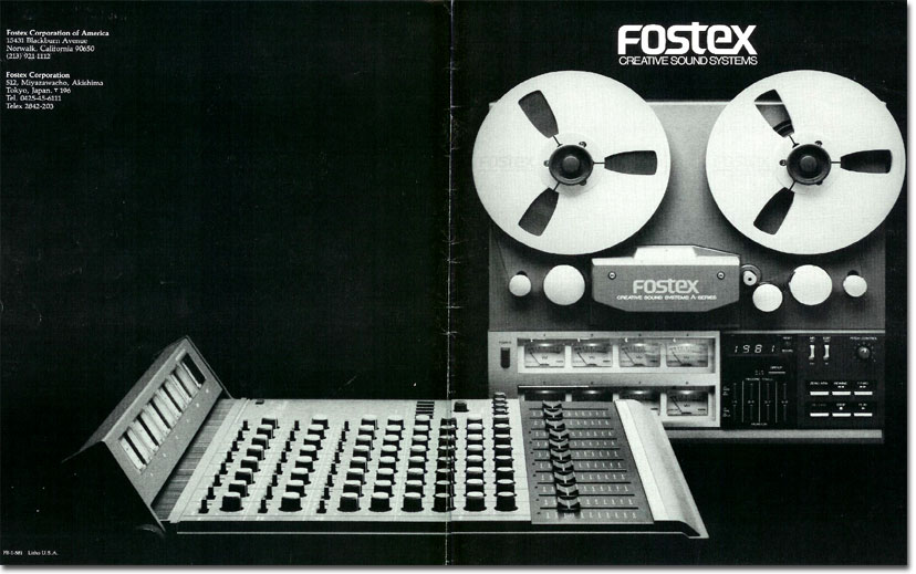 1981 ad for the Fostex 350 mixer in the Reel2ReelTexas.com vintage recording collection