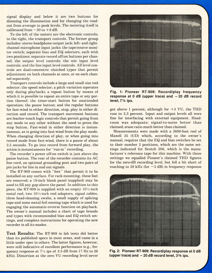 Ad for the Pioneer  reel to reel tape recorder in the Reel2ReelTexas.com vintage recording collection