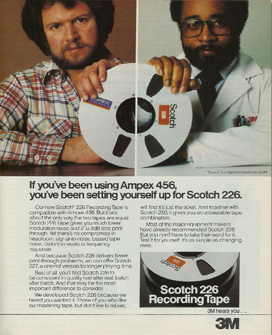 1980 ad for 3M Scotch reel to reel recording tape in the Reel2ReelTexas.com vintage recording collection