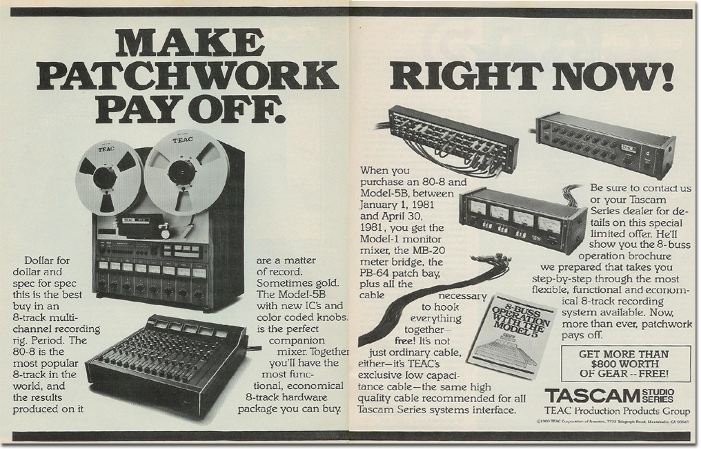 1981 Teac 80-8reel tape recorder ad