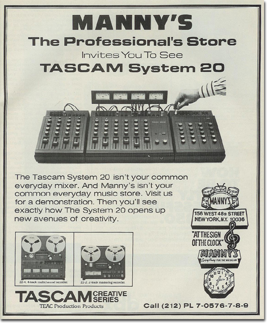 1981 ad for the Teac System 20 mixer and   reel to reel tape recorder in the Reel2ReelTexas.com vintage recording collection