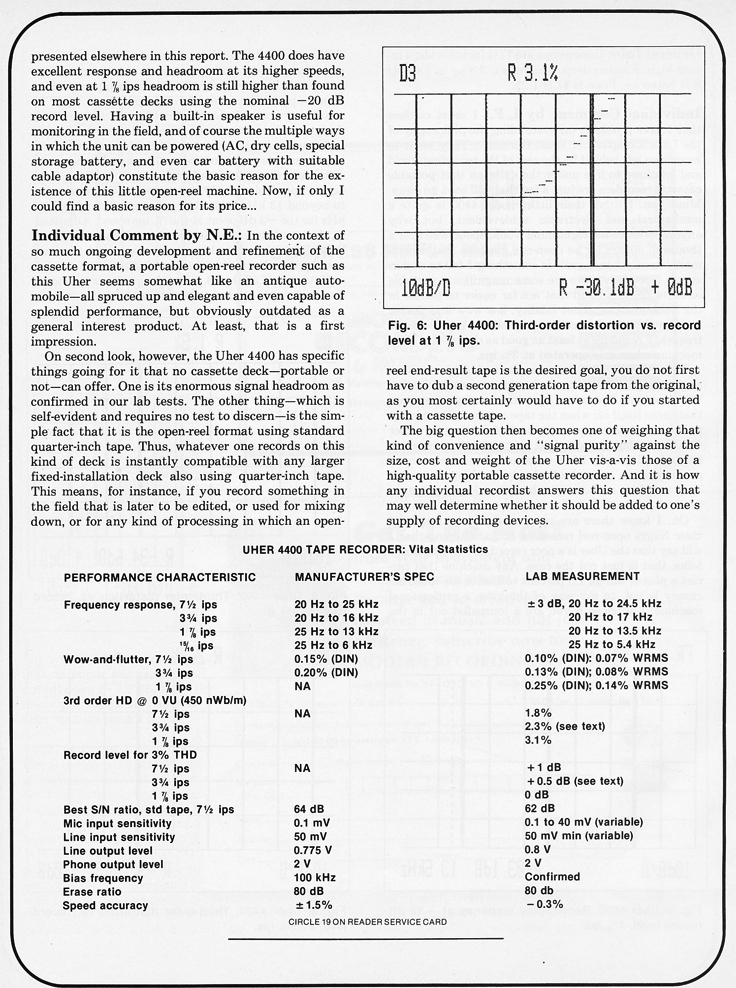 1967 price list for Uher Martel reel to reel tape deck in the Reel2ReelTexas.com vintage recording collection
