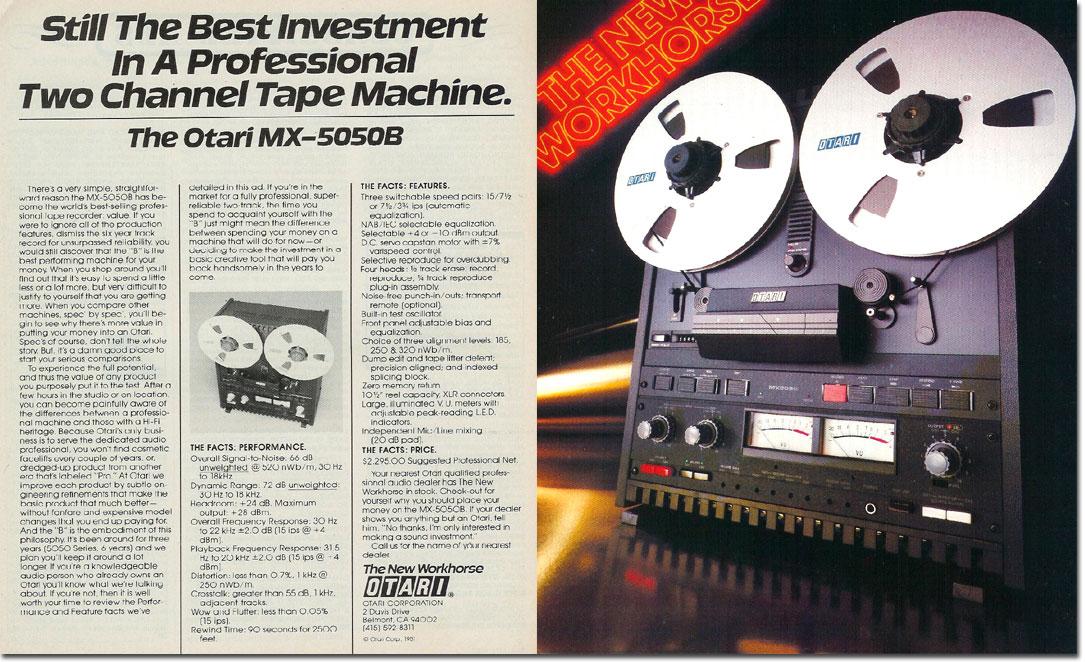 Reel to Reel Tape Recorder Manufacturers - Otari, Inc