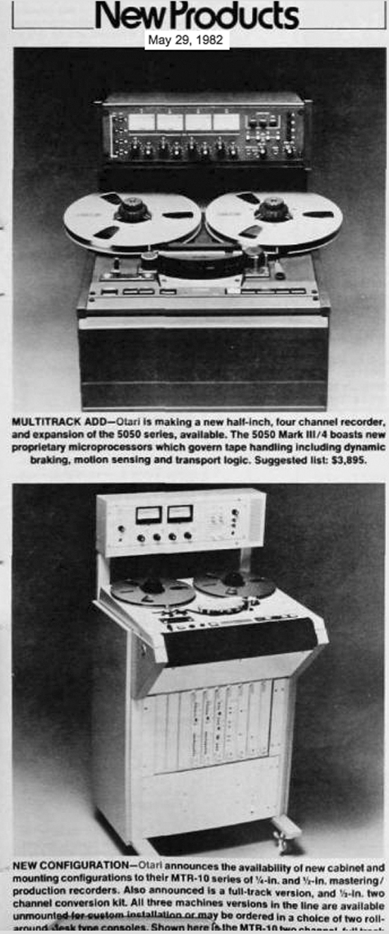 Otari reel tape recorder ad in the Reel2ReelTexas.com vintage recording collection