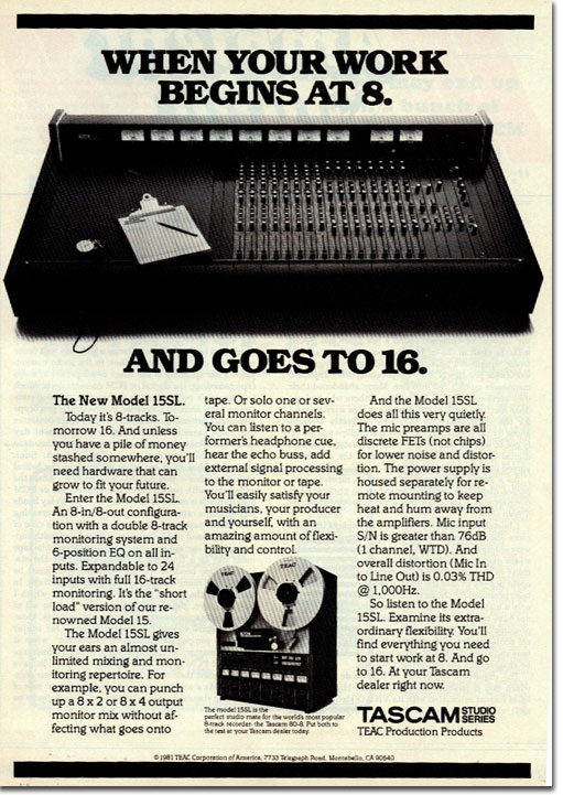 Teac Ad for 80-8 in 1982